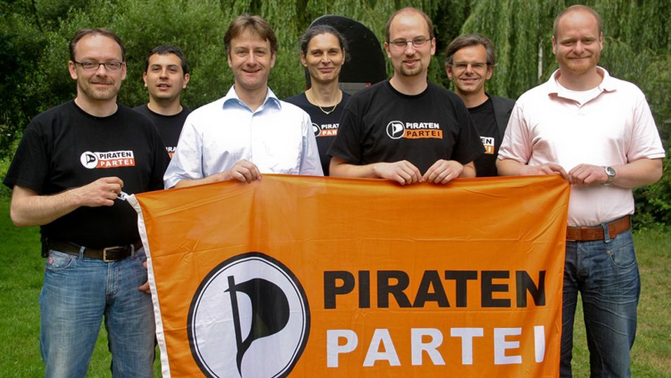 Representanter fra Piratenpartei Deutschland. Foto: Michael Vogel