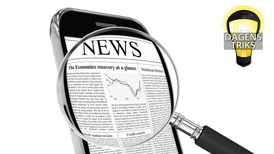 TIPS: Slik får du større skrift på mobilen
