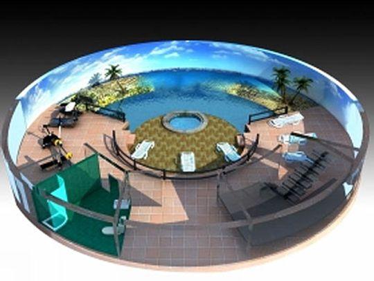 Et svømmebasseng må fremtidens mennesker ha.