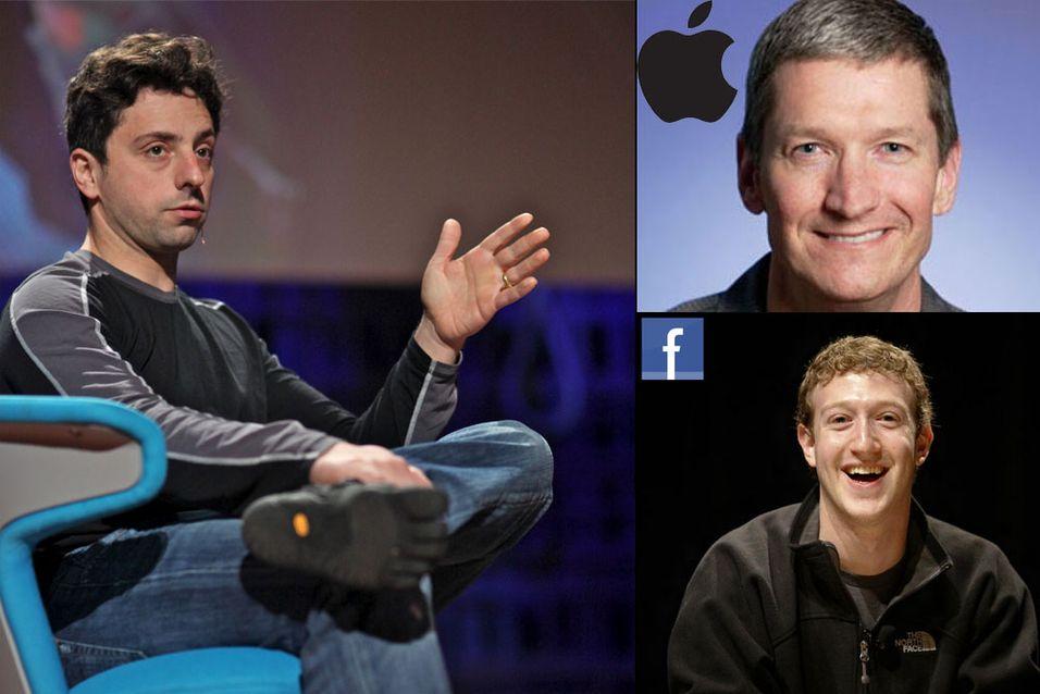 Googles Sergey Brin klager på både Apple og Facebook, og mener de er altfor lukkede.