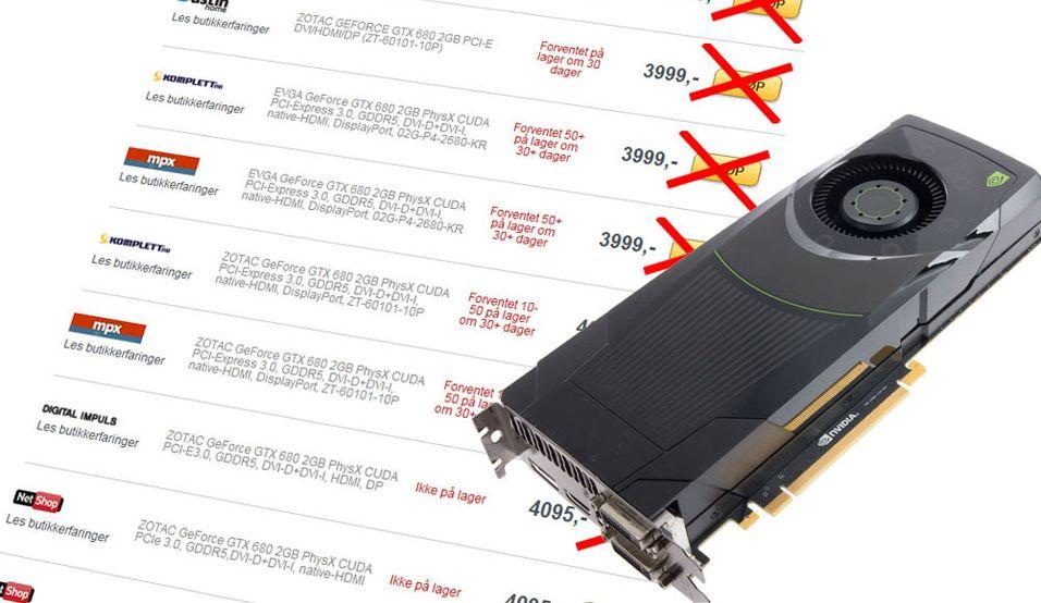 Derfor er GTX 680 ribbet vekk