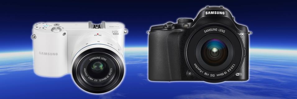 Samsung smeller ut tre nye systemkameraer