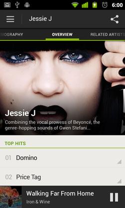 I den nye Spotify-versjonen for Android får du høyoppløste artistbilder.