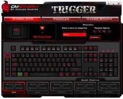 Den medfølgende programvaren til Trigger-tastatureter enkelt å forstå seg på.