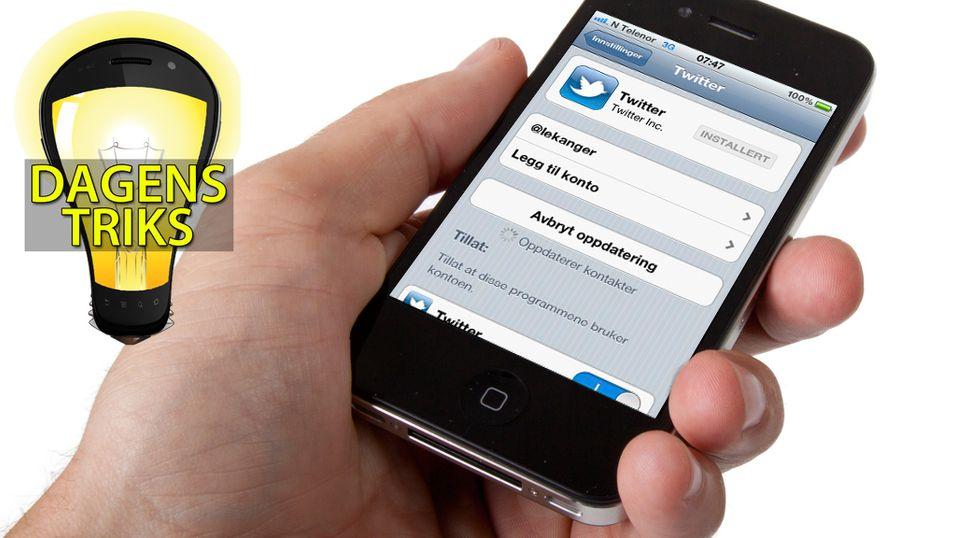 TIPS: Send Twitter-meldinger fra appene