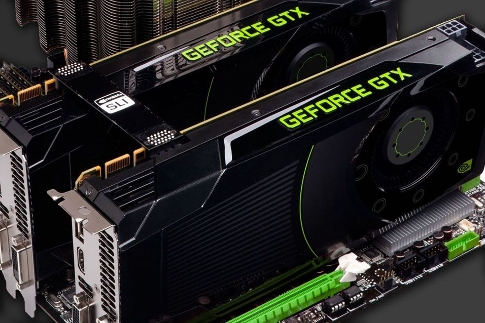 Her er to GeForce GTX 680-kort avbildet.