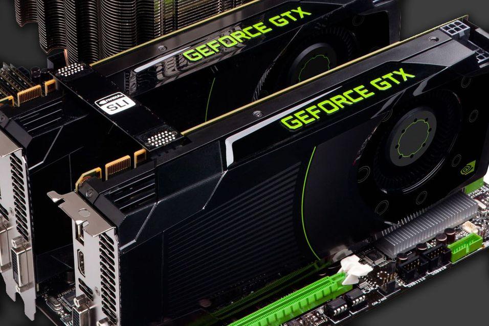 Her er to GeForce GTX 680-kort avbildet.