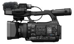 Sony PMW-100 fra siden.