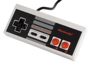 Stuebordet etterlikner en NES-håndkontroll