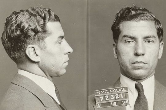 Charles «Lucky» Luciano ble arrestert 18. april 1936 i New York. Dette bildet er blant 870.000 som nylig er frigitt fra New Yorks kommunale bildearkiv.