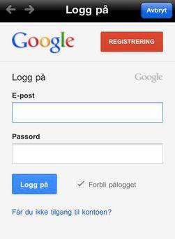 Googles søkeapp gir deg bedre søkeresultater hvis du logger på med Google-kontoen din.