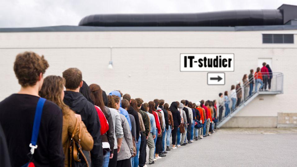 Kø til IT-studiene