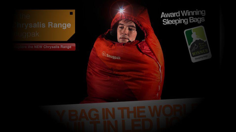 Slutt på mørke teltturer – her er LED-soveposen!