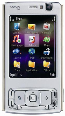 Symbian gjør det stadig dårligere på salgsstatistikken. Her en Nokia N95 fra glansdagene før Apples iPhone dukket opp.