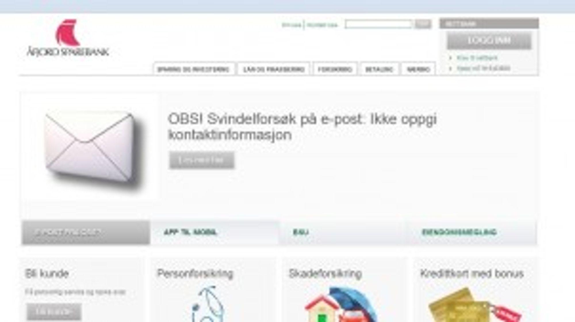 LURERI: Har du fått en e-post fra Åfjord Sparebank, bør du tenke deg om.