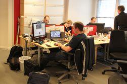 Mye av jobben skjer fra Watchcoms egne lokaler.