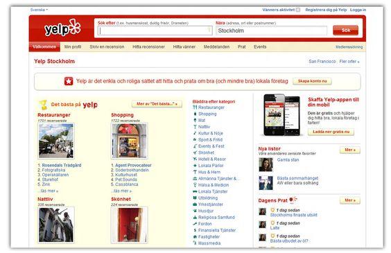 Yelp har allerede blitt en hit i Sverige og Danmark.