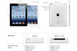 iPad selges fortsatt som et 4G-produkt i Apples norske nettbutikk.