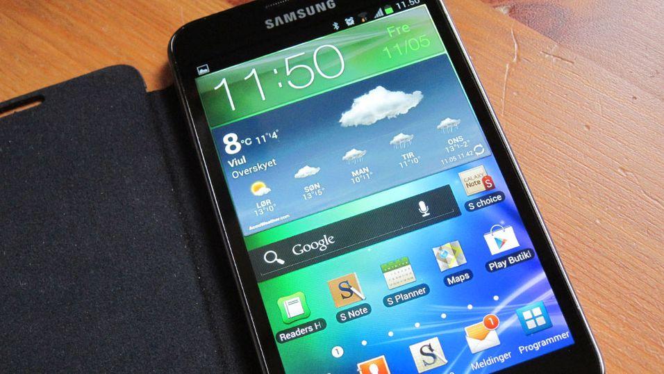 Nå får du Android 4 på Galaxy Note