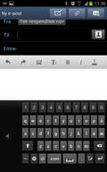 Slik blir tastaturet enkelt å betjene med en hånd.