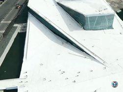 Med teknologien til C3 Technologies kan Apple gi svært detaljerte luftbilder av storbyer. Her er Operaen i Oslo. (Foto: Stillbilde fra video, C3 Technologies)