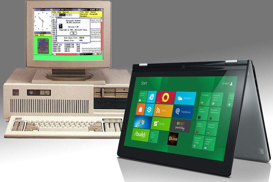 Fra Windows 3.1 til Windows 8