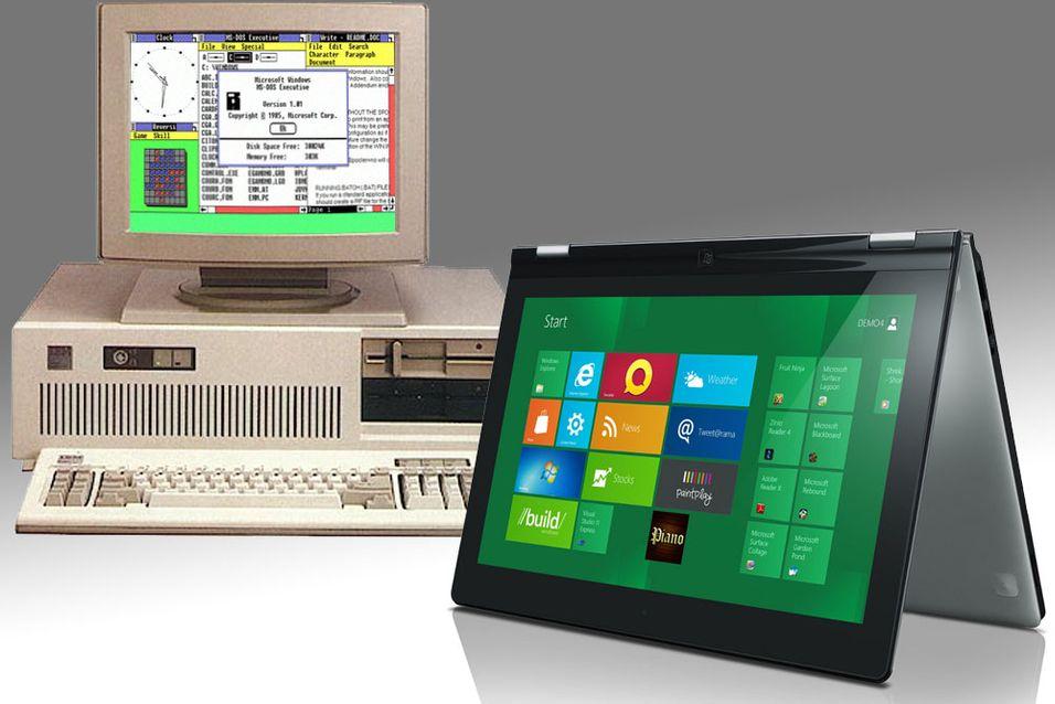 Fra Windows 3.1 til Windows 8