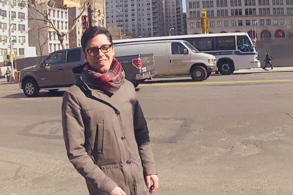 Skjermdump fra Googles video om Project Glass.