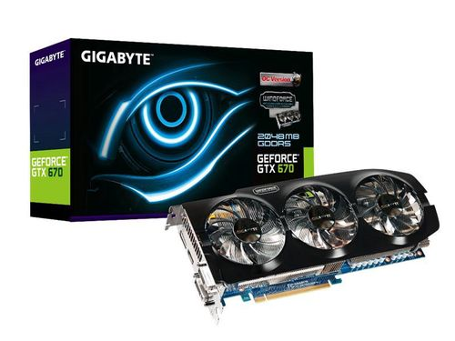 Gigabyte GeForce GTX 670 2GB Windforce 3X