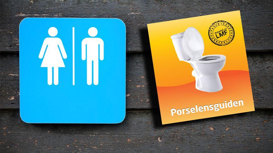 Porselensguiden finner nærmeste toalett