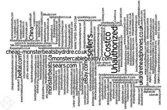 Oversikten over de 1755 nettbutikkene som er svartelistet som falske forhandlere av beatsbydre.com