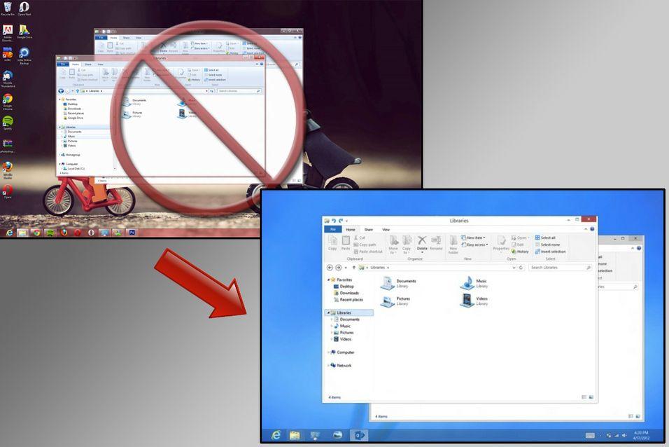 Microsoft fjerner Aero i Windows 8