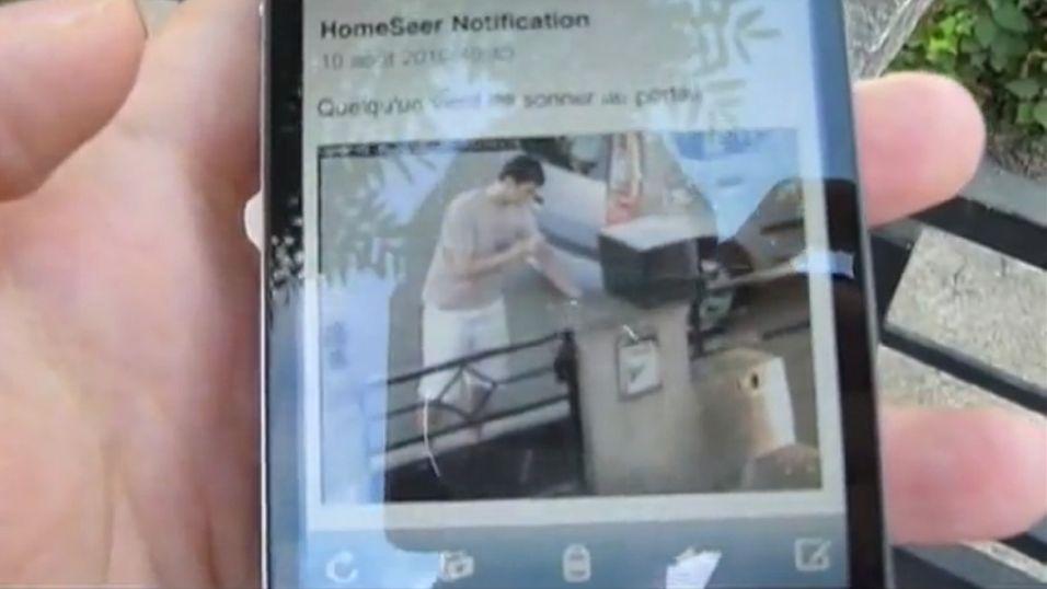 Ringeklokke sender bilder av besøkende til telefonen din