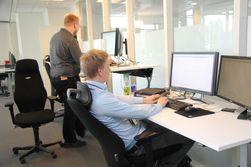 De fleste av de ansatte har teknologiutdannelse i bunnen.
