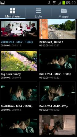 Videospilleren har fått et galleri som forhåndsviser ved hjelp av små videosnutter. Levende forhåndsvisning er veldig tøft men det virker bare for noen filtyper.