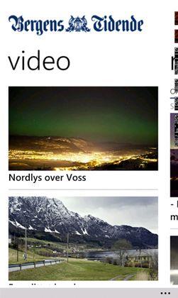 Bergens Tidende er en av avisene som nå har fått egen Windows Phone-app.