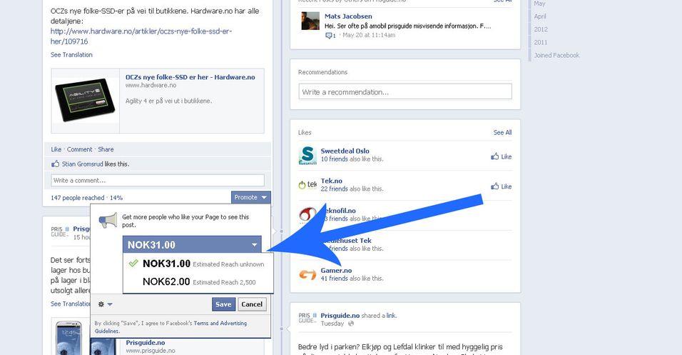 Nå kan du betale for å bli mer synlig Facebook