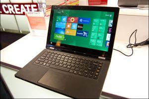 Lenovo Yoga, med berøringsskjerm.