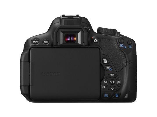 Baksiden på Canon EOS 650D.