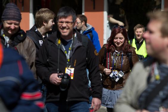 Mye folk på fotovandringen i Oslo i fjor.