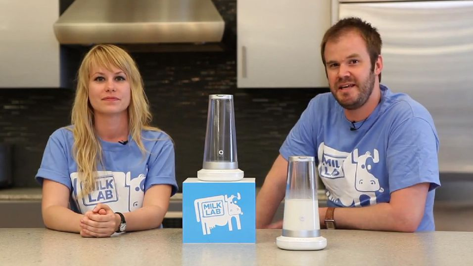 Melkeglass sender SMS når melka er sur