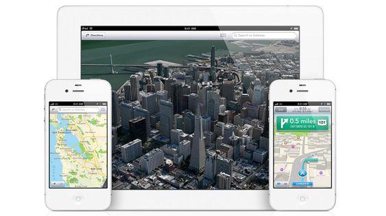 iOS 6 får helt nye kart, utviklet av TomTom.