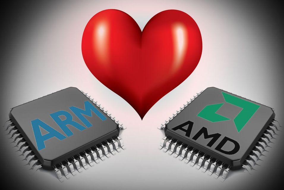 Hvem hadde vel trodd at AMD og ARM skulle finne tonen?