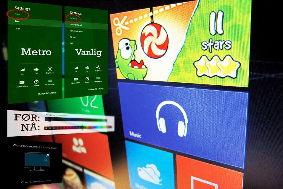 SNIKTITT: Dette er nytt i nyeste Windows 8