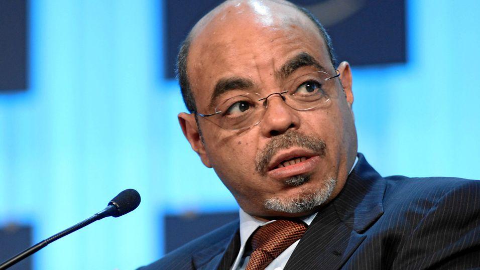 Statsministeren i Etiopia, Meles Zenawi.