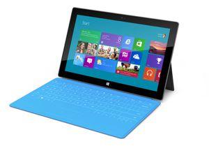 Slik ser Microsofts eget Surface-nettbrett ut. Nettbrettet ble presentert av Microsoft i juni i år.