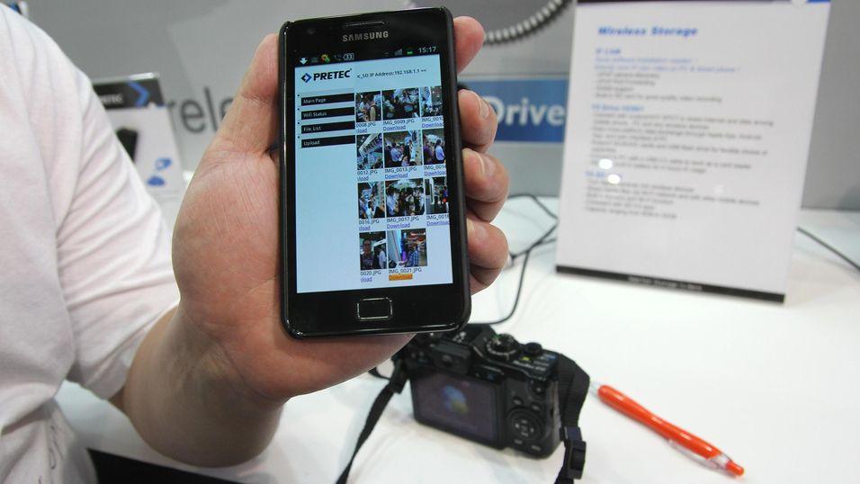 Pretec kunne demonstrere det trådløse minnekortet Y5.