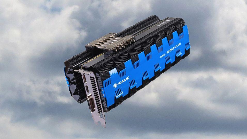 Colorful iGame GTX 680 passive. Og noen skyer.