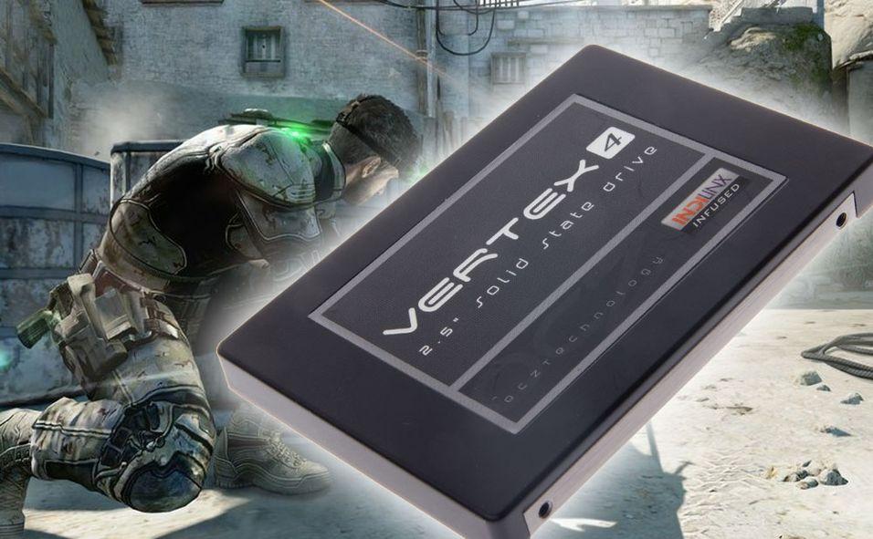 Her er OCZs Vertex 4 – med 256 GB innabords.