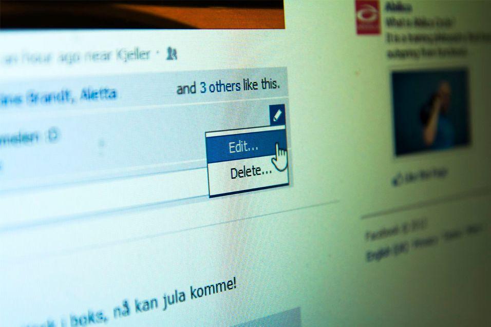 Nå kan du redigere kommentarene dine så fort de er lagt ut.